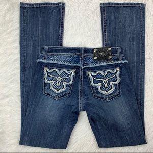Miss Me Longhorn Boot Cut Jeans